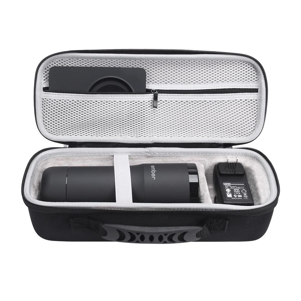 2019 nuevo EVA funda de transporte portátil duro para Ember Control de temperatura taza de viaje bolsa de transporte caja protectora (negro + gris)