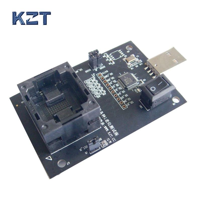 EMMC100-محول المقبس ، جهاز GPS الرقمي الذكي ، رقائق ذاكرة فلاش ، استعادة البيانات ، جهاز حرق وإصلاح الأجهزة