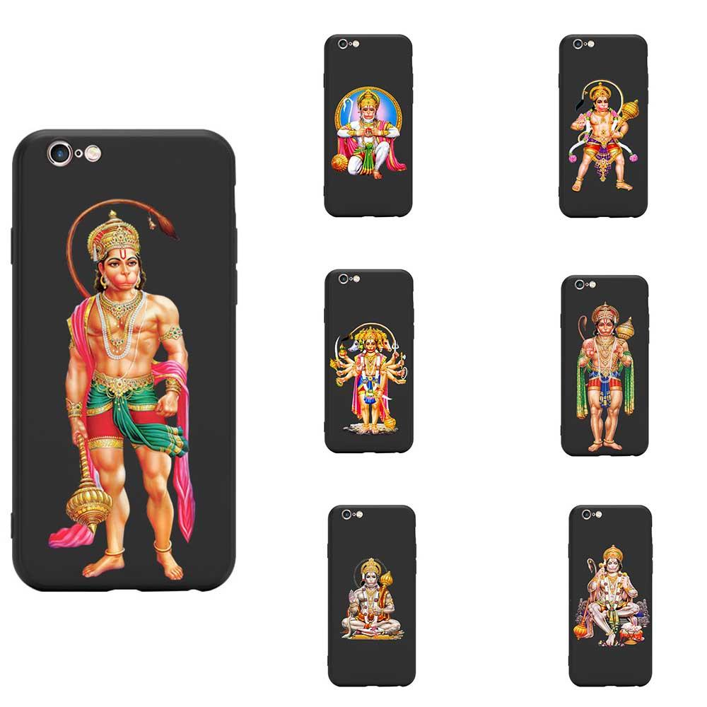 Series 3 hinduismo señor Hanuman figura temática India TPU fundas de teléfono para iPhone 6 7 8 S XR X Plus 11 Pro Max