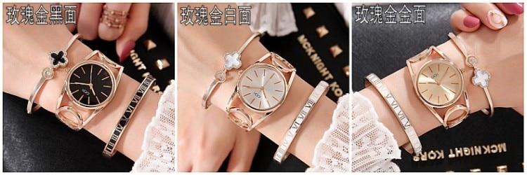 2019 GEDI Fashion Rose Gold Women Watches Top Luxury Brand Ladies Quartz Watch 3 Pieces Girl's Watch Relogio Feminino Hodinky enlarge