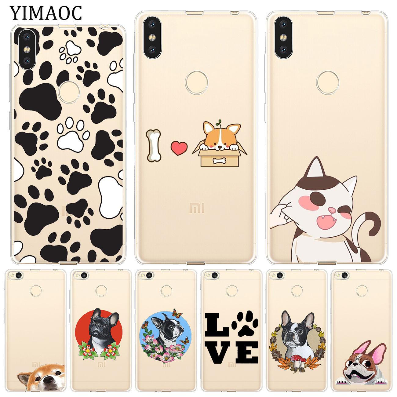 YIMAOC Animal Cat Dog Cute Bulldog Soft Case for Xiaomi Mi 9 9T CC9 CC9E A3 Pro 8 SE A2 Lite A1 MiX