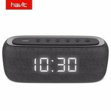 HAVIT Bluetooth динамик портативный домашний громкоговоритель с цифровым будильником 3D стерео усиленный бас-динамик поддержка fm-радио M29