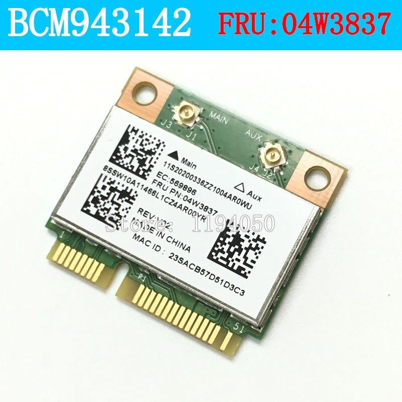 BCM43142 tarjeta inalámbrica para Thinkpad Edge E430 E530 E531 E431 E545 04W3837 BCM943142 BT4.0 tarjeta inalámbrica para Thinkpa WLAN 4314