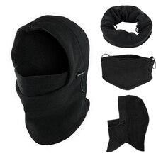 6 in1 Neck Men's Outdoor fleece warmer hat Winter Hat Fleece Hood Ski Mask Warm Helmet Warm Hat For