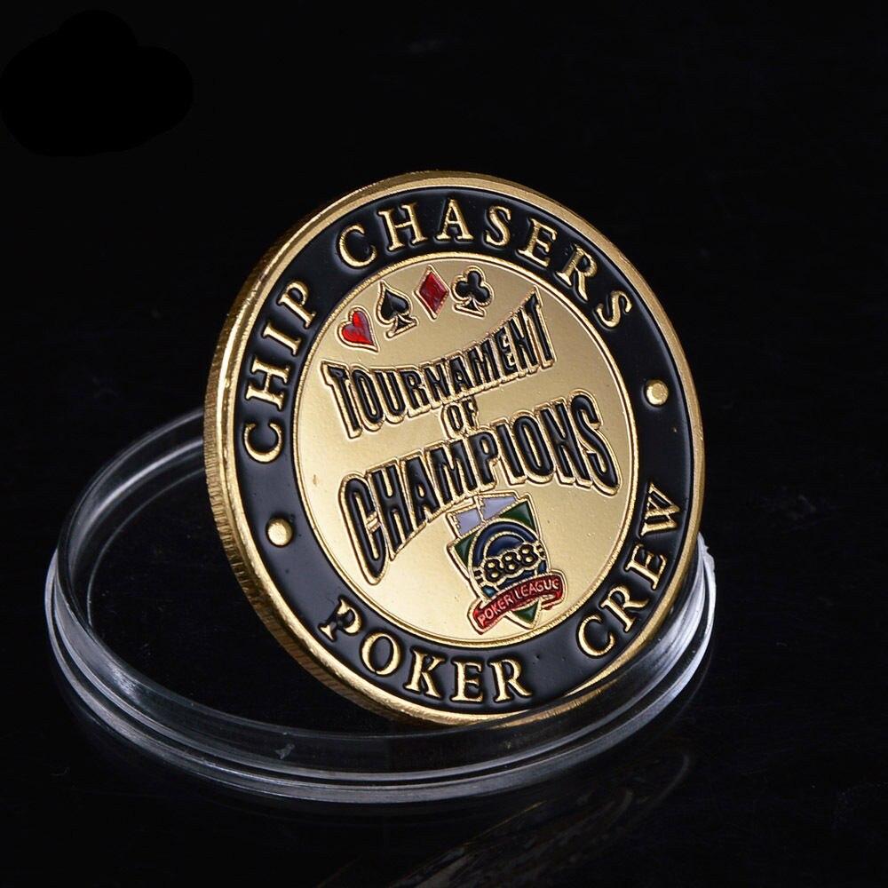 10 unids/lote envío gratis Casino Chip de Metal moneda chip cazadores poker tripulación Torneo de Campeones