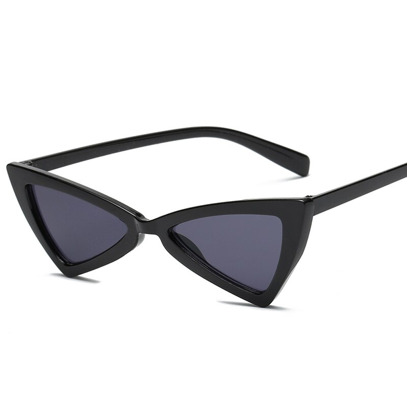 Samjunio 2019 gafas de sol de triángulo rojo sexi de marca de diseñador Vintage ojo de gato señoras Marco de lente de ojo de gato gafas de sol