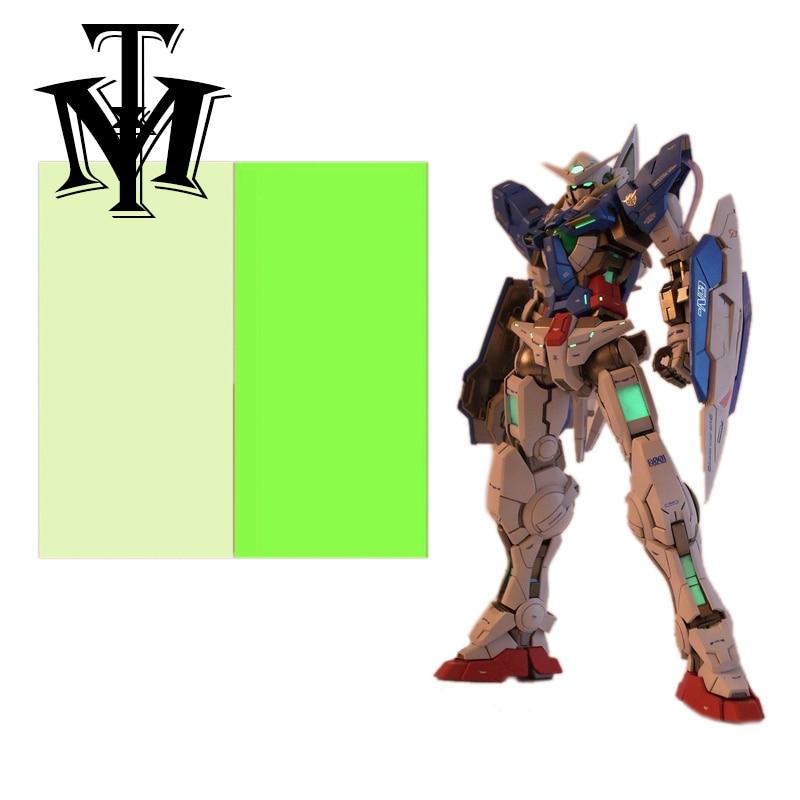 Figuras de acción diy modelo fans periférico de animé gundam modelo ojo parche papel calcomanía Luminosa 10*15cm juguetes de acción