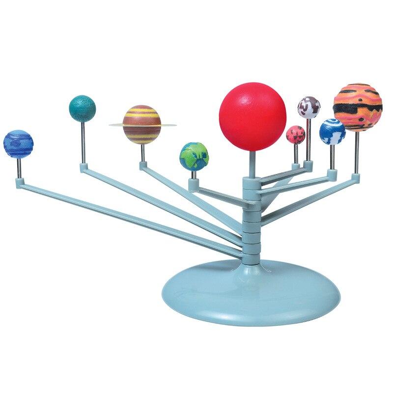 Venda quente DIY Kit Modelo de Nove planetas Do Sistema Solar Ciência Astronomia Precoce Montessori Brinquedos Educativos Para Crianças