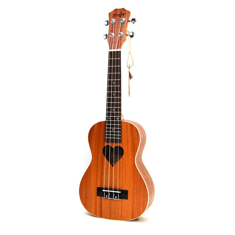 SevenAngel 21 Soprano Ukulele Quatro Cordas Havaí Mini Coração padrão Guitarra ukelele Guitarra violão Chitarra