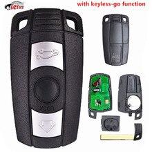 KEYECU-clé à télécommande intelligente   Fonction sans clé, clé complète 315MHz/868MHz PCF7952, pour BMW CAS3 + 3/5 série X1 X6 Z4 2006-2