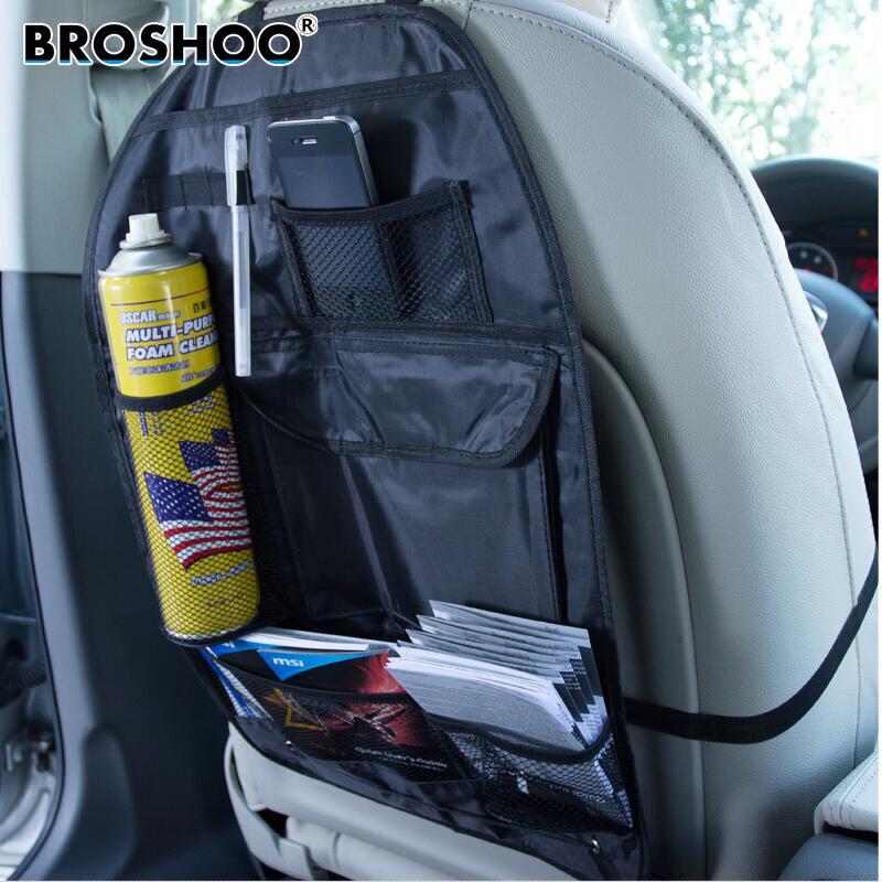 Broshoo estilo do carro multifuncional selim sacos vehienlar luva sacos de armazenamento pendurado sacos de armazenamento titular acessórios automóveis
