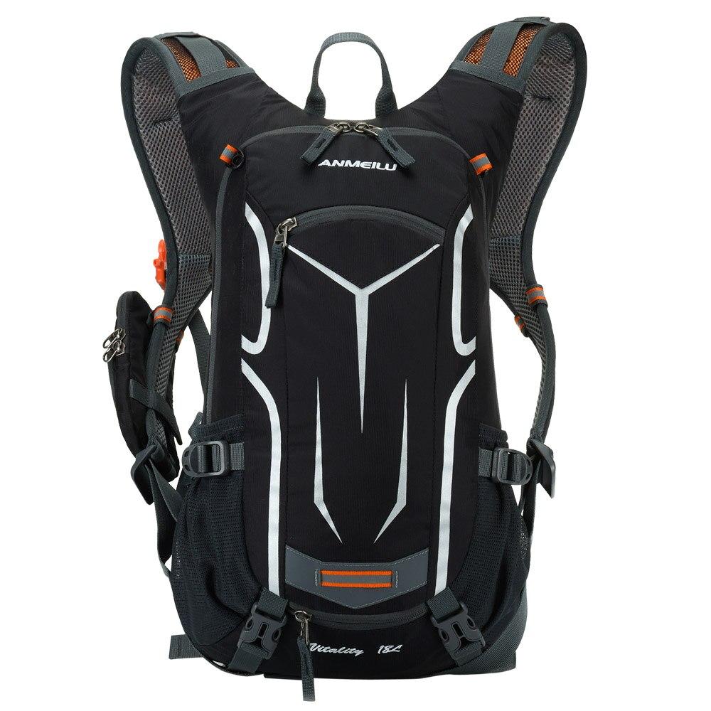 Lixada 18l respirável bicicleta de ombro mochila esportes ao ar livre equitação montanhismo hidratação saco água com capa chuva