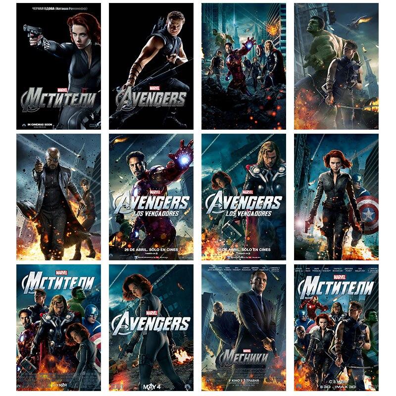 Marvel moive avengers endgame cartazes de seda personagem de super-herói postre e impressão arte da parede quadros decorativos para o quarto de cama
