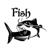30cm catfish fish animal car styling motorcycle stickers decals vinyl
