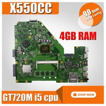 I5-3230 4G GT720M X550CC Laptop motherboard für ASUS A550C X550CL X550C X552C R510C Test original mainboard X550CC motherboard