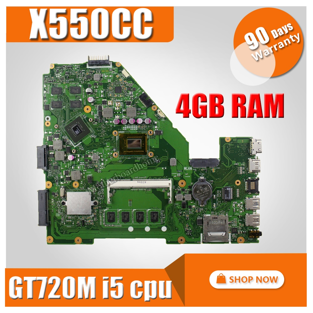 I5-3230 4G GT720M X550CC материнская плата для ноутбука ASUS A550C X550CL X550C X552C R510C тест оригинальная материнская плата X550CC материнская плата