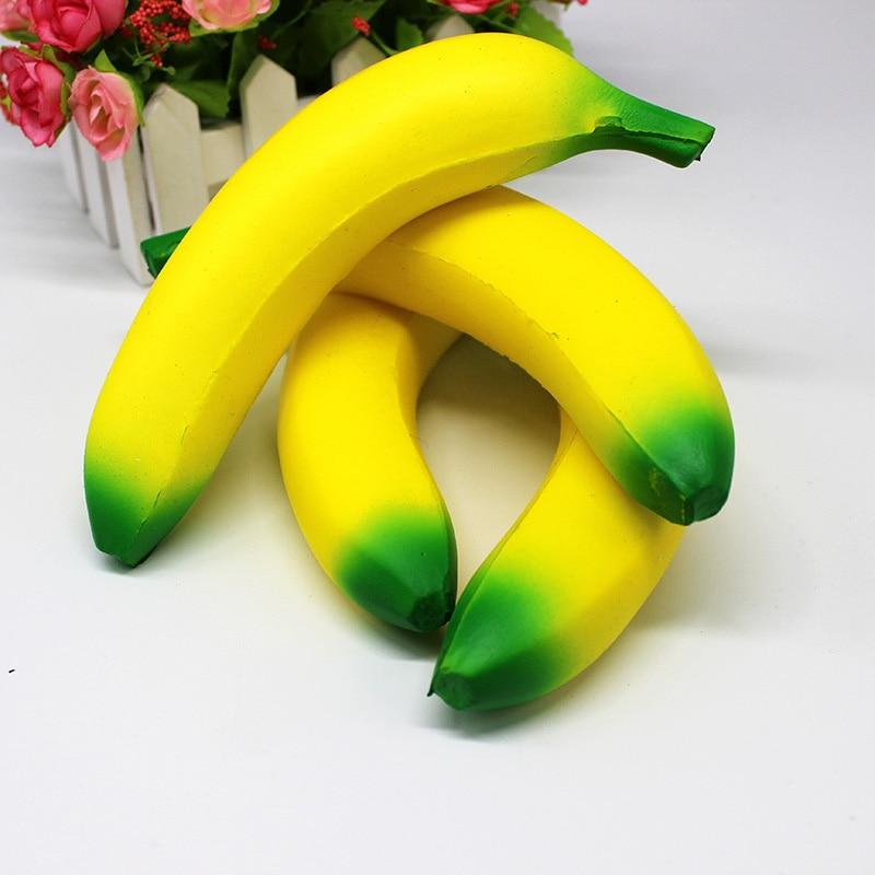 New Arrival Children Slow Rebound Toys Pinch Soft Decoration Fruit Banana Funny PU Simulation Reduce Pressure Vent Creative enlarge