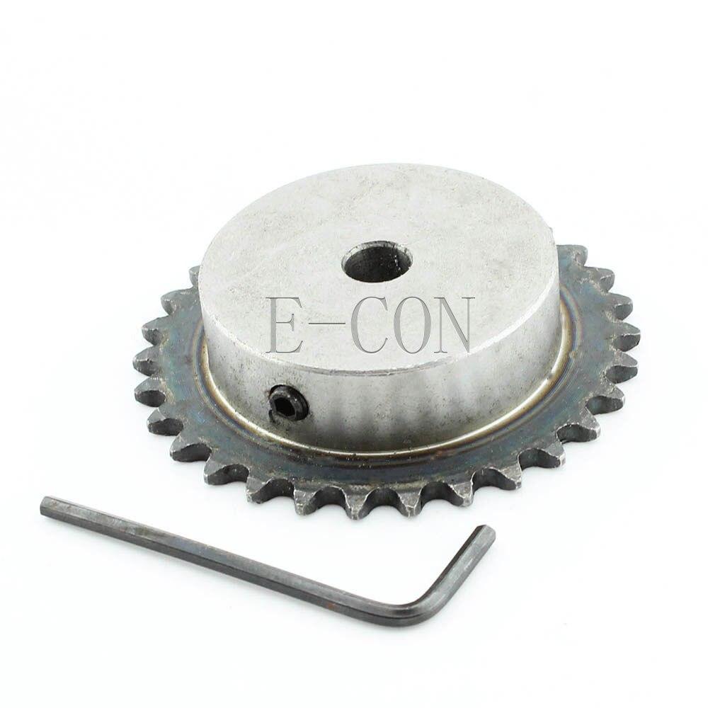 1 pcs 12mm Furo Dentes 30 30 T Piloto de Metal Motor Da Engrenagem Do Rolo Cadeia Movimentação Da Roda Dentada