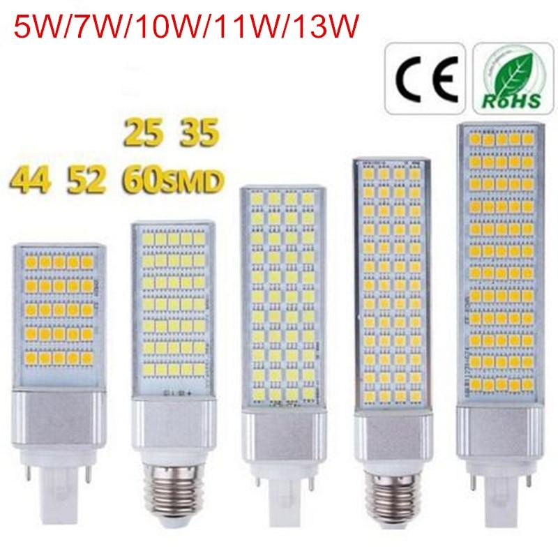 Светодиодная лампа E27, 5 Вт, 7 Вт, 10 Вт, 11 Вт, 13 Вт, G24, для замены флуоресцентных ламп, SMD5050, AC85-265V