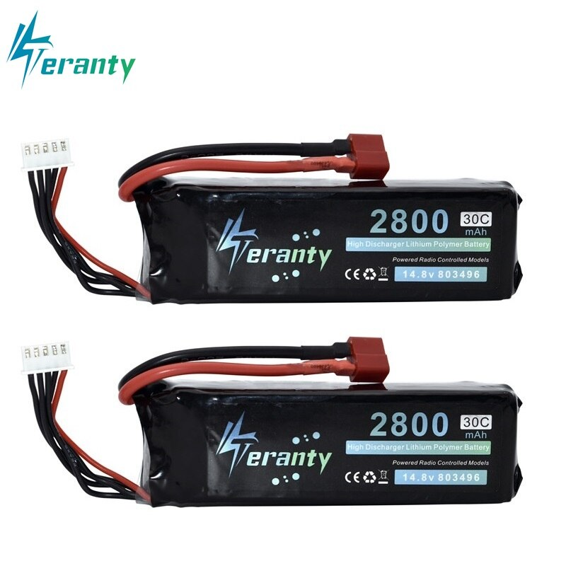 vho rc lipo battery 7 4v 6000mah 40c 4pcs 2s battery and eu charger for rc helicopter car boat quadcopter li polymer batteria 2800mah 14.8V BATTERY RC 4s Lipo Battery 14.8V 30C 803496-4s for FT010 FT011 RC boat RC Helicopter Airplanes Car Quadcopter 2pcs