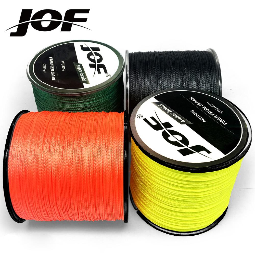 JOF 500M 300M 100M cable trenzado multicolor PE 4 hilos hilo de pesca japonés multifilamento