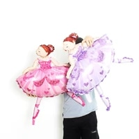 1piece big pink ballet girl balloons wedding decoration foil ballons for birthday party globos supplies toy