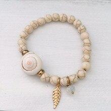Dongmu bijoux Style bohème mode breloque perle chaîne Bracelet extensible combinaison pierre naturelle fille Bracelet