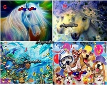 animals diamond painting full square unicorn dimond embroidery dolphin diamond dotz picture puppy dogs diamand mosaic stickers