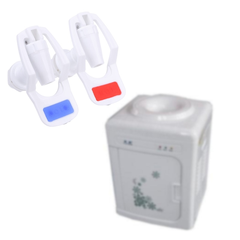MEXI 2 unids/set dispensador de agua, repuesto de dispensador de agua, grifo de plástico blanco, para dispensador de agua, accesorios de pieza