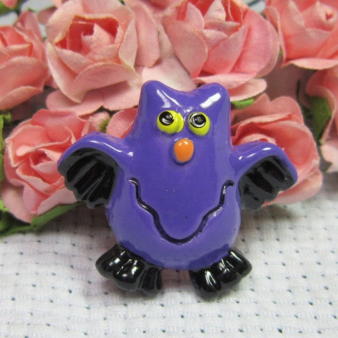 10pcs/lot Cute dark blue owl Resin Cabochon Flat Back Girls Hair Bow Center Making Boys Crafts DIY 18*23mm