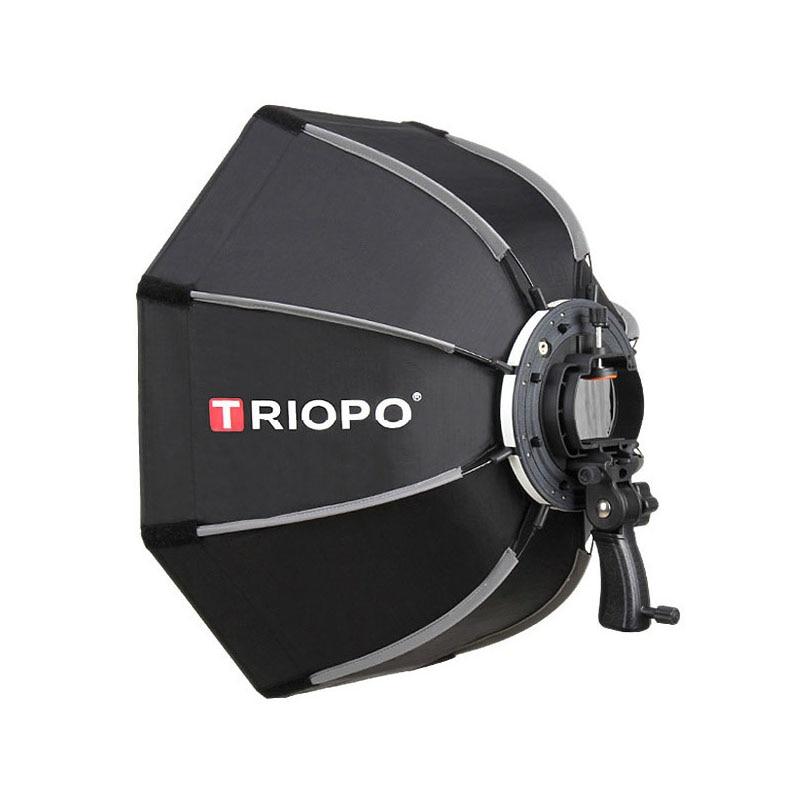 TRIOPO 90 سنتيمتر الصورة المثمن مظلة ضوء الفوتوغرافي Softbox مع مقبض ل Godox V860II TT600 ستوديو تصوير اكسسوارات لينة مربع