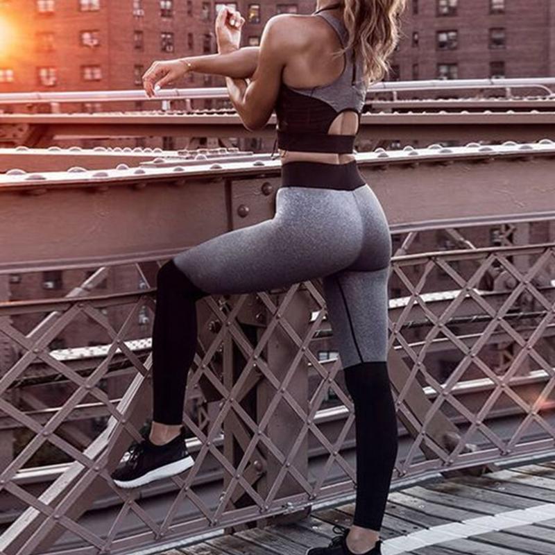 2019 conjuntos de yoga das mulheres colete terno de fitness gym wear workout roupas correndo leggings magros pilatos esporte wear ternos yoga calça