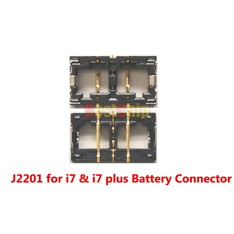 BestChip 20pcs/lot J2201 for iphone 7 & 7plus Batteryr FPC Connector on Motherboard