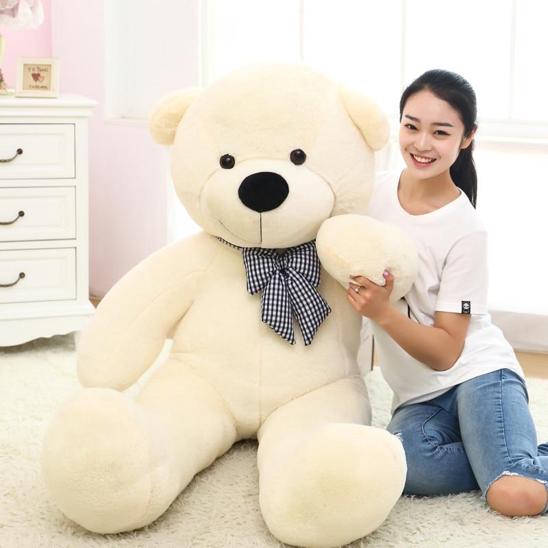 1pc 80/100cm Cute Teddy bear plush toy stuffed soft bear animal plush pillow for kids girlfriend birthday Valentine's gift