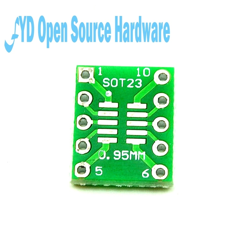 PCB board SOT23 MSOP10 UMAX drehen DIP10 0,5mm/0,95mm 10 TEILE/LOS