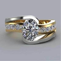 exquisite women ring classical crystal rhinestones ring for women jewelry accessories anniversary party gift gold colors