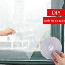 Fenêtre décran en maille avec crochet de 150 mètres   Bande à crochet dété, contrôle anti-insectes, bricolage écrans en maille anti-adhésifs 130*5.5 cm