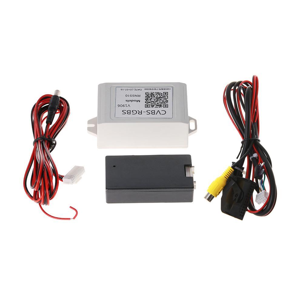 New 1 Set Car Backup Camera Rearview RGB To AV Converter Adapter For Volkswagen RNS510