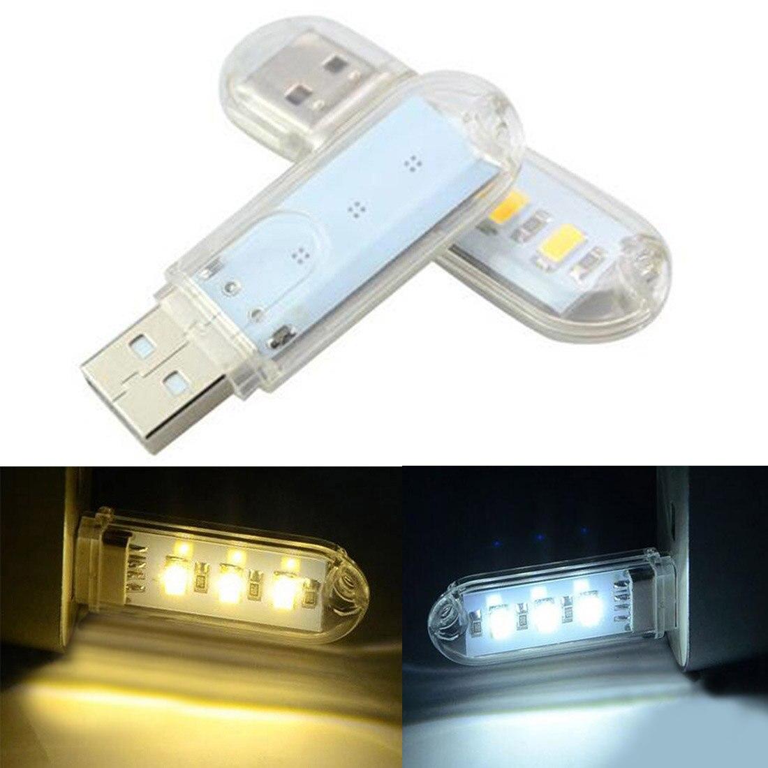 1Pc Mini Tragbare USB LED Buch Licht 3LEDs DC 5V Für PC Laptops Computer Notebook Power Bank camping Lampe Lesen Birne