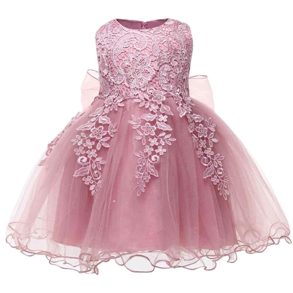 Bebé Niñas Vestido De Princesa Elegante Niño Niña Flor 1 Años Cumpleaños Fiesta Encaje Vestido Vestidos Niños Vestidos Bordados Vestidos Aliexpress
