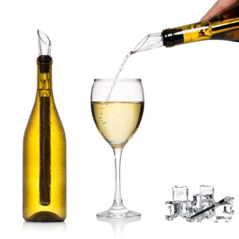 Varilla enfriadora de vino de acero inoxidable con varilla para enfriar vino, Enfriador de cerveza, barra de hielo congelada Tool25