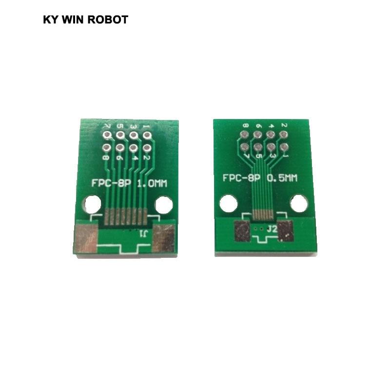 Бесплатная доставка 5 шт./лот двухсторонний 0,5 мм 1 мм FFC FPC 8 P 8 Pin до 2,54 мм DIP Moudle адаптер для печатной платы