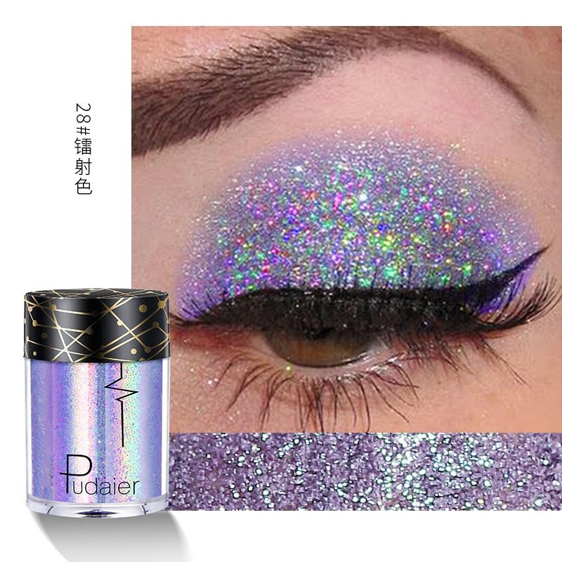 Pudaier glitter eyeshadow palette 3.5g diamond gold blue silver loose powder waterproof long lasting metallic eyeshadow PD038
