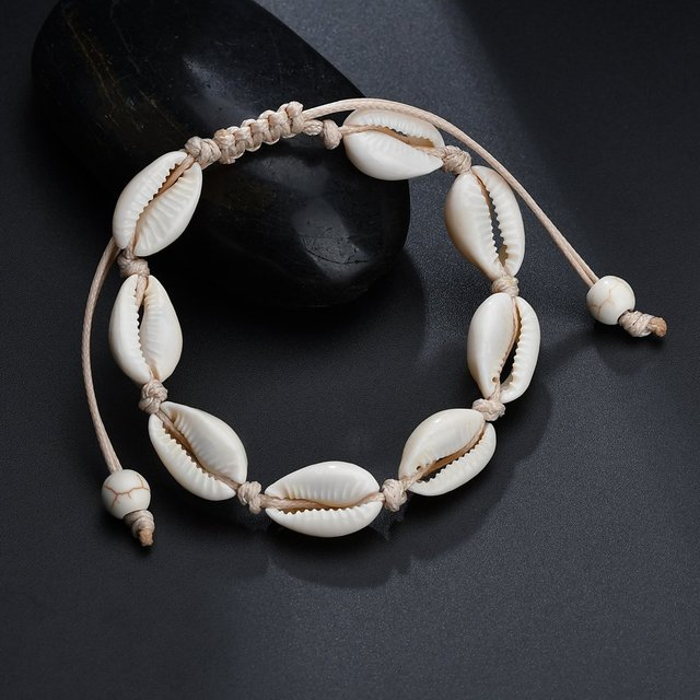 Bohemia Natural Shell Anklets for Women Foot Jewelry Summer Beach Barefoot Bracelet Ankle on Leg Chian Ankle Strap Accessories