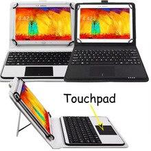 Abnehmbare drahtlose bluetooth tastatur mit touchpad + pu-leder case für asus transformer pad tf303k tf303cl tf303c
