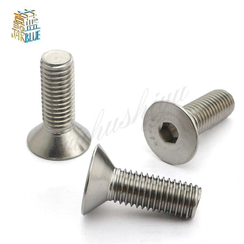 100Pcs M3 Stainless Steel Screws Pan Hex Socket Head Cap Screw Furniture Fastener Bolt M3 * 5mm/6mm/8mm/10mm/12mm/14mm/16mm/20mm