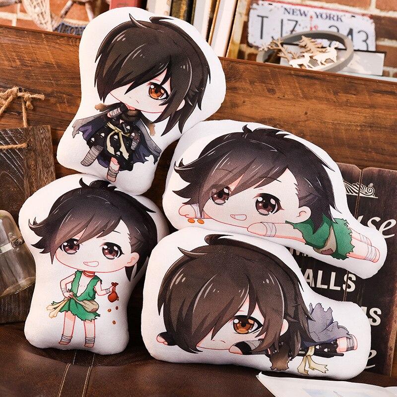 Dororo almohada juguete Anime Hyakkimaru corto peluche muñeca doble cara funda cosplay 45 cm