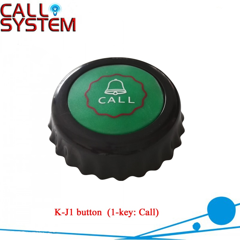 10pcs Restaurant Pager K-J1 Wireless Calling Service Call Button Table Transmitter 433MHz Pager Waterproof Buzzer