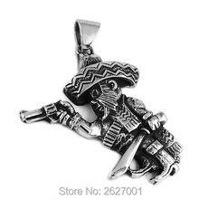 Danemark Bandidos pendentif de motard avec couteau et pistolet, bijoux en acier inoxydable Punk pour motard à moteur, pendentif pour hommes en gros SWP395