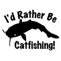 35cm id rather be catfishing fashion car sticker vinyl decal